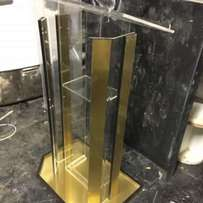 Unique Perspex with Gold or Silver Podiums/ Pulpits