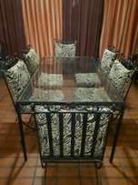 Cast iron dining room suite 6 seater