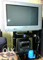 32 inches philip TV. with glass stand