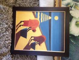 2 African Women Artwork Print on Canvas for Sale!
