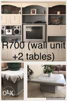 Wall unit + 2 tables