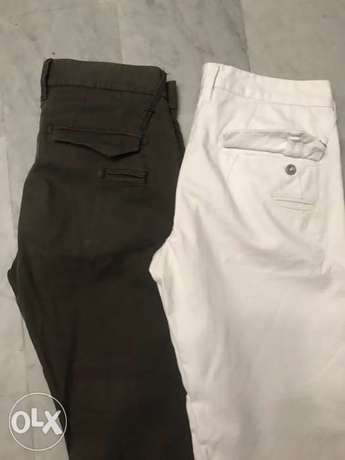 Gas chino pants white and brown size 30 slim fit