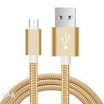 2 lot Micro USB Cable 2A Fast Charging Nylon Braid Sync Data A