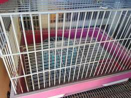 Hamster cage pink with accesories