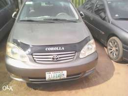 Toyota corolla up for grab