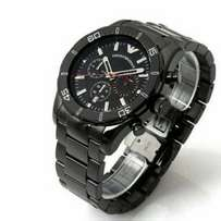 Emporio Armani Black Steel watch