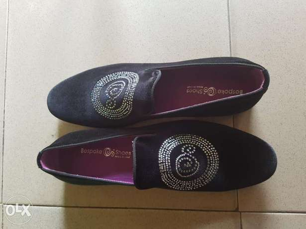 Black suede with stone details cerutti shoe size 46. Ibadan South West - image 1