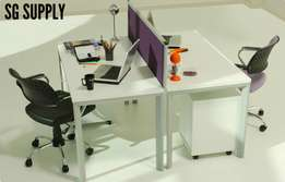2 way Linear Desk 120cm Workstation