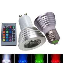 LED Colour Changing Light Bulb with Wireless Remote - 12 Colours, E27