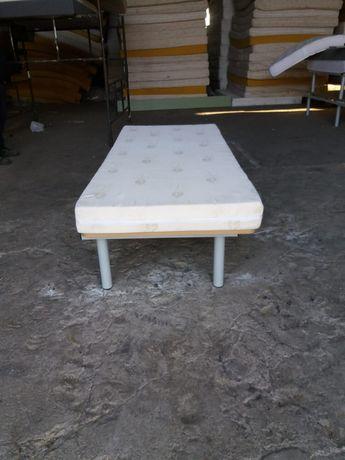 łóżko Hotelowe Podstawa łóżka Z Materacem 80x180 Tapczan