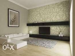 We install quality wall paper and Do Electrical installation for homes