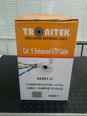Luxtronic 100 Ft Cat-5 RJ45 350MHz UTP Networking Cable