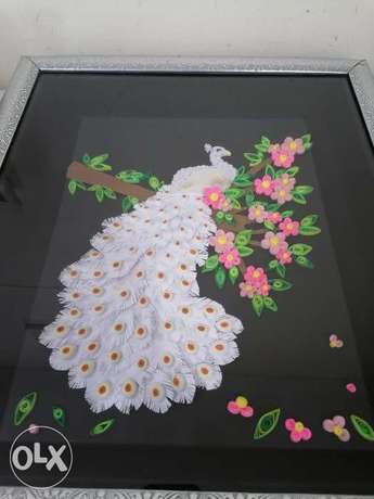 Quilled White Peacock