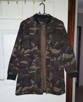 Soft long camo bomber jacket for sale R300