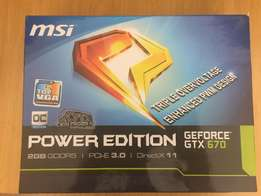 MSI GeForce GTX 670 Power Edition 2G Graphics Card