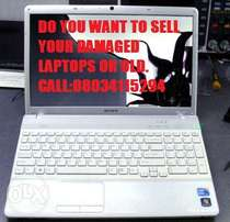Do you want 2sell your Damage Laptops or Old Call: