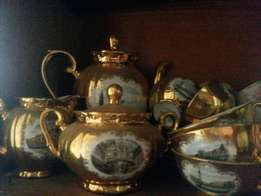 Antique Hand crafted Gold plated Bavarian Tea set