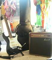 Guitar with case n amp