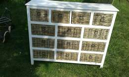 The chest of drawers and the washing baskets is there with nice price