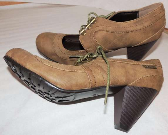 Brown, ankle boot with chunky heel (VJ Collections) Ruaka - image 5