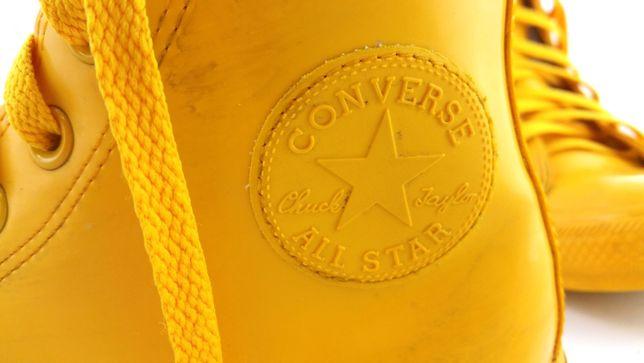 Buty CONVERSE Trampki Wysokie Żółte Kalosze rozm. 38 wkł. 25
