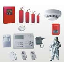 Intruder alarm fire alarm systems and fire extinguishers