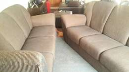 L shaped brown corner couch x2 piece