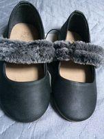 18eb0b0e NOWE ZARA balerinki buty dla dziewczynki rozmiar 22 i 24 grafitowe