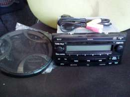 Toyota fortuner or hilux double din radio with speaker coversand cable