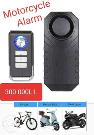 Motorcycle alarm moto (No wiring required) **300.000L.L**
