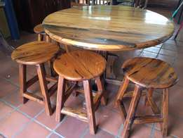 ironwood table and chairs