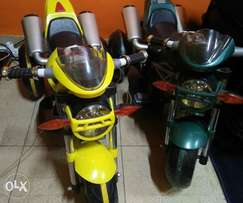 Toy car and motorbike