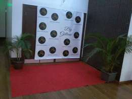 red carpet ,lounge seats for hire