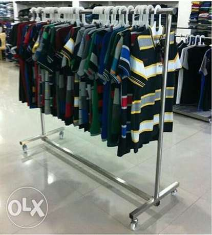 Movable Garments Display Hanging Stand