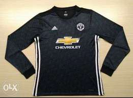 Original Manchester United 2017/18 Official Away Long Sleeve Jersey