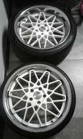 Bmw 20 inch mags and new tyres