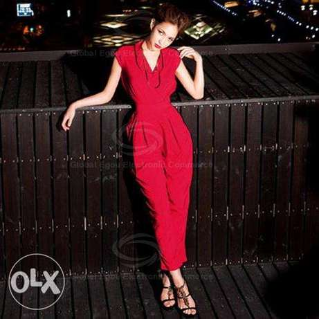 Red sexy jumpsuit Changamwe - image 1