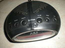 AM/FM radio alarm clock