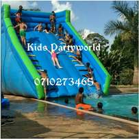 dry slides,slip water slide,zorb balls,inflatables pools for hire