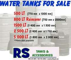 We supply and install water tanks & accessories