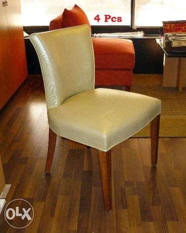Chairs Leather ( Four Pieces )
