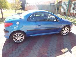 Royal blue Peugeot 206cc, Cabriolet for Sale