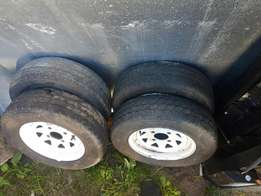 Nissan 1400 12inch rims and tyres