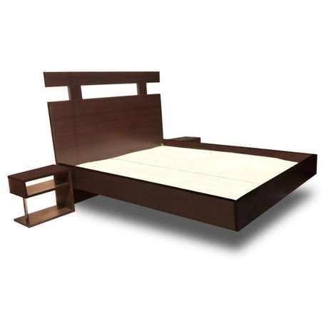 Floating Bed frame with 2 side desks. 4.5ft X 6ft (Reference: fx037bb) Ikeja - image 1