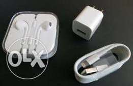 Certified iPhone chargers with adapter &earphones