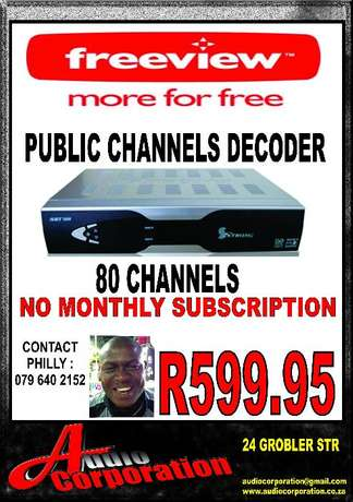 Audio Corp: Free Satellite Tv No monthly Costs. 60 + Channels Polokwane - image 1