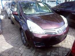 2010 7Nissan Note maroon colour Light interior KCl