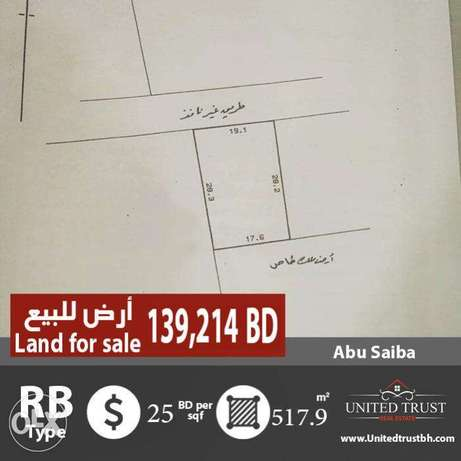 For sale residential land investment in Abu Saiba.
