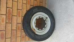 VW Beetle Rim And New Tyre