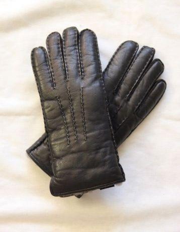 2906adafb0c0f OCHNIK skóra OWCZA czarne damskie rękawiczki z KOŻUCH karibu skorzane  Czernica - image 1
